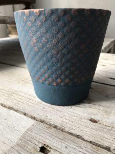 inspiration painted pot aubusson copper wax