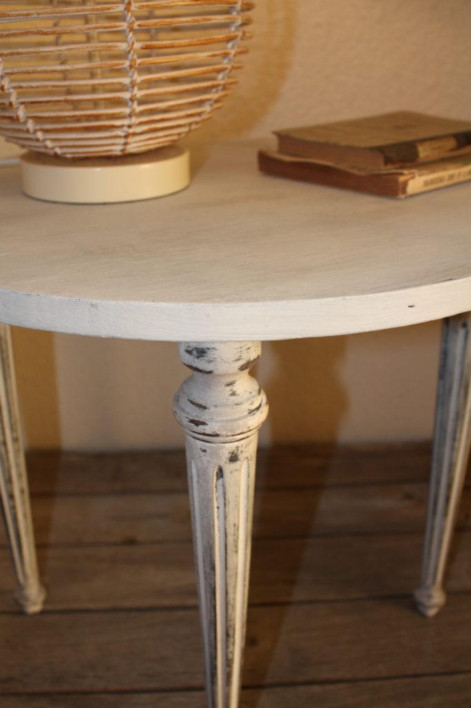 table relooke chalk paint original & graphite